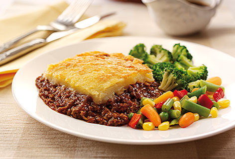 Menu choices cottage pie